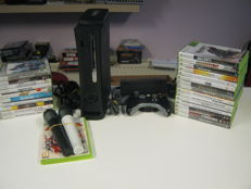 Xbox 360 console (120gb) including 26 games like: Assassins creed, prototype, conan, Advance Warfare and more