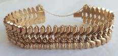 18 kt (750/000) pink gold - Articulated bracelet from the 40s - 55 g