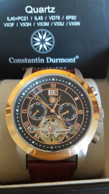 Constantin Durmont Catano leather, steel, apricot