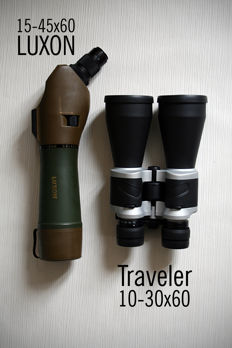 A lot of two pairs of binoculars
