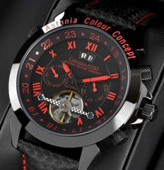 Calvaneo 1583 Astonia Color Concept Red Fireline -- Men's automatic wristwatch -- Never worn