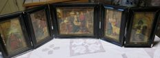 Old religious table altar Adoration of the Magi Hans Memling travel altar