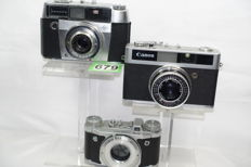 Canonet junior + agfa silette L + altix body