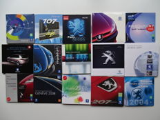 1998 - 2010 - PEUGEOT / PEUGEOT Sport / Concept cars - Mixed lot of 15 Press information picture CD-Rom's