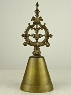 Bronze large Bell with beautiful handle - France - 19th century