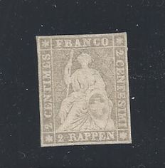 Switzerland - Strubel stamps 2 Rp. – Zumstein 21 G