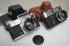 Camera Kiev-4M (prototype Contax Carl Zeiss Jena).As a gift of the FED-5 Olympic