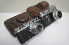 "The very first model is ""Zorki"".  KMZ (Krasnogorsk) 1948-1956. As a gift ""Zenith-3M"""