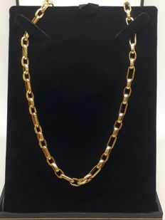 Men's/ladies' gold necklace, cable chain, genuine 18 kt / 750 gold