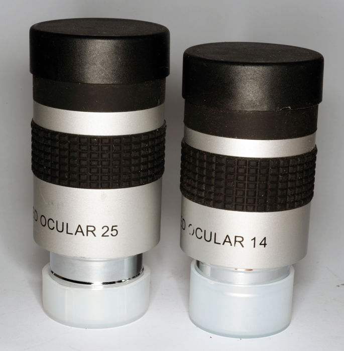 Seben telescope oculars 14 and 25, Optem Zoom 70, Barlow lenses 5x and 2x, reverse prism