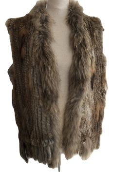 Rabbit fur / racoon  - gorgeous  jacket  -  size   38  / 40 (NL)  * NO RESERVE PRICE *