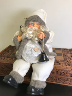 Beautiful finely decorated white Santa Claus, late 20th century