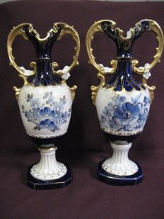 Two Royal Dux vases