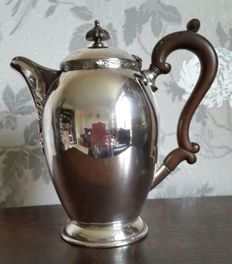 Nice silver plated teapot with inscription - year 1957