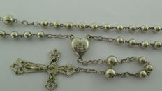Antique silver rosary with openwork crucifix - the Netherlands - 19th century