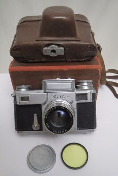 "The very first ""Kiev-3"", in 1949 of release. Made at the Carl Zeiss Jena factory. The exact copy of Contax -3."