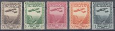 Spain 1931 - Montserrat Monastery. Airmail. Perforated 14 - Edifil 650d/654d