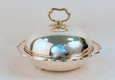 Antique Victorian Silver Plate Serving Dish, Hawksworth, Eyre & Co, Sheffiield Circa. 1850 c.-1873