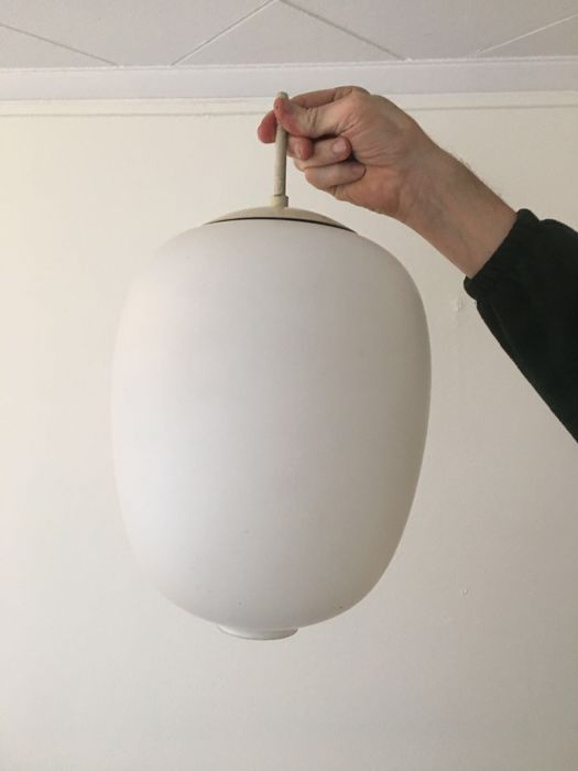Unknown designer - matted white glass ceiling light