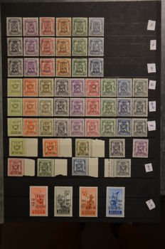 Belgium -  24 series of pre-cancelled stamps