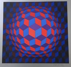 Victor Vasarely - Réponse à Victor Vasarely, Composition, Cheyt - Rond