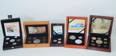 The Netherlands - 5 coin collections Royal Dutch Mint