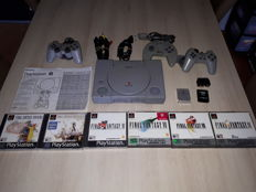 Playstation 1 with 6 Final fantasy games 3 controllers and memorycards