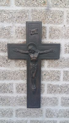 Bronze - crucifix / crucifix - beginning of 20th century.