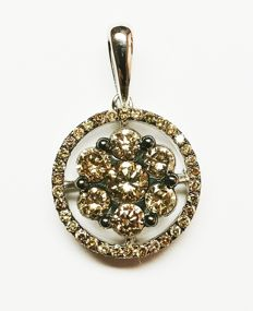 A 14k gold New Ladies Pendant with Brilliant cut Diamonds total 1.14 ct   -No Reserve Price