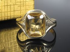 Gold ring with citrine spinel 1930