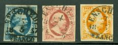 The Netherlands 1852 - King Willem III - NVPH 1/3 with semi-circular cancellation Entschede B