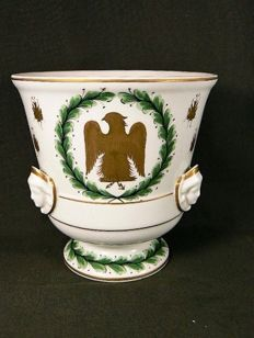 Couleuvre, Paris - Large hand-decorated cachepot - Napoleon 'N'