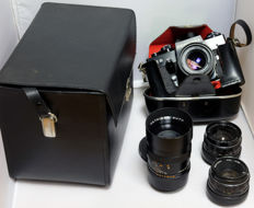 Praktica EE2 with lenses