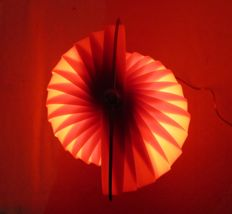 Slat table lamp / Red Moon lamp, late 20th century