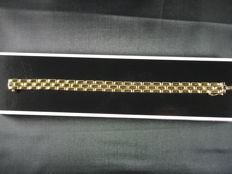 Rice bracelet 3 rows, 18 kt yellow gold, 19 cm 22.65 grams