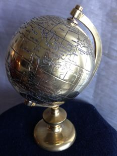 Vintage Ball of the World in Bronze. From Portugal