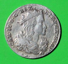 Kingdom of Naples - XX Grana Tarì 1694 Carlo II - silver