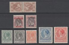 Netherlands 1919/1927 - Selection of Wilhelmina stamps - NVPH 61b, 102/103, 136/138, 163/164