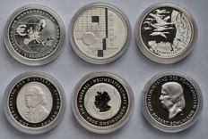 Germany - 10 Euro 2002/2010 Commemorative coins (6 different ones) - silver