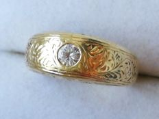 Old ,14K Yellow Gold Genuine Diamond ,