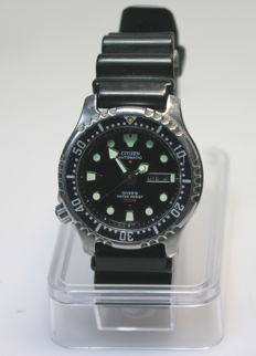Citizen Promaster Automatic Diver 200m – left hander men's wristwatch – 80s