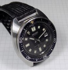 Seiko 6105-8000 - Water 150m Proof - Big Black - Diver - 1969 - Men's Wristwatch