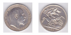 England - Crown, 1902, Edward VII - silver