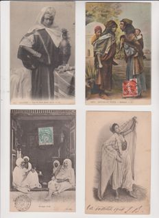 Very good lot of 70 old postcards of Algeria and Morocco