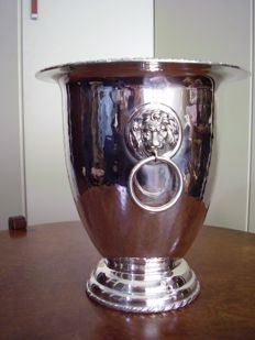 Italian silver champagne bucket or vase ca 1960