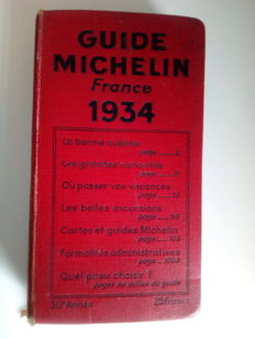 Guide Michelin - 1934