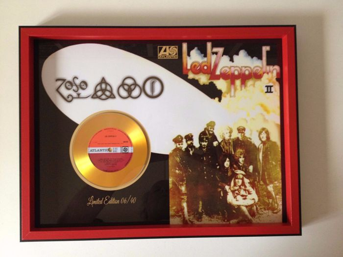 "Led Zeppelin Gold Plated CD  Display ""Led Zeppelin II "" (aka The Brown Bomber)"