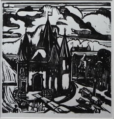 "Jan Wiegers (1893 - 1959) - ""De Waag in Amsterdam"""