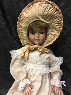 Antique doll - Schoenau & Hoffmeister - PB in star - S H 170-2 1/4 - Germany