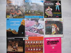 Lot 0f Rare Various 33 pieces of folks music of which 28 Ep's and 5 singles /  Polka Espagnol ,Argentina ,Algarve ,Romania ,Balkans ,Fiesta Canaria ,Grec